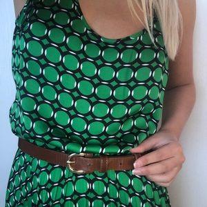 Michael Kors Geometric Green Maxi Dress